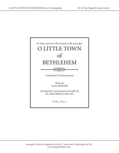 O Little Town of Bethlehem (Instrumental - SCORE and PARTS)