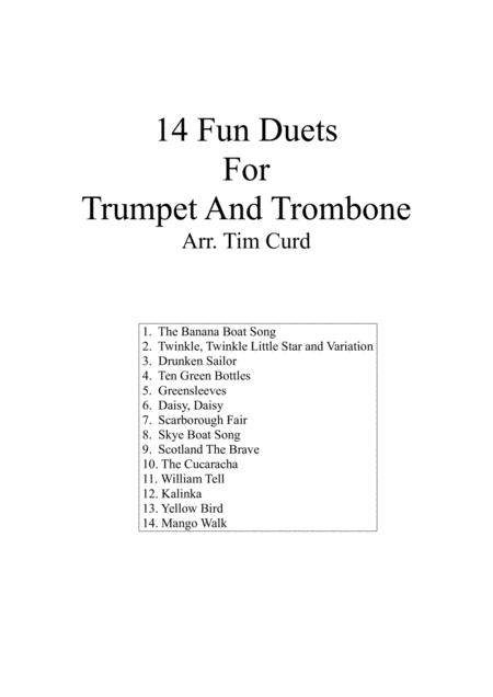14 Fun Duets For Trumpet and Trombone