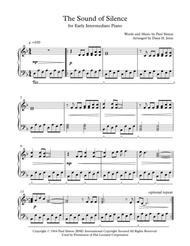 The Sound of Silence for early intermediate piano