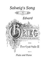 Solveig's Song Flute and Piano Grieg Peer Gynt Suite