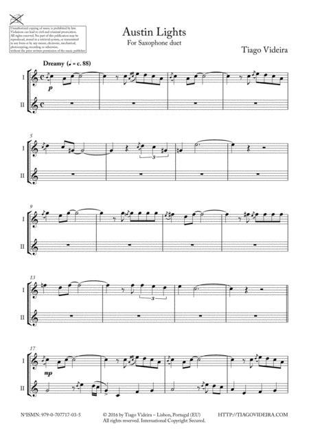 Austin Lights - Duet for A/T Saxophones