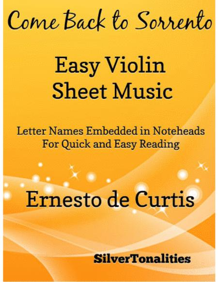 Come Back to Sorrento Easy Violin Sheet Music