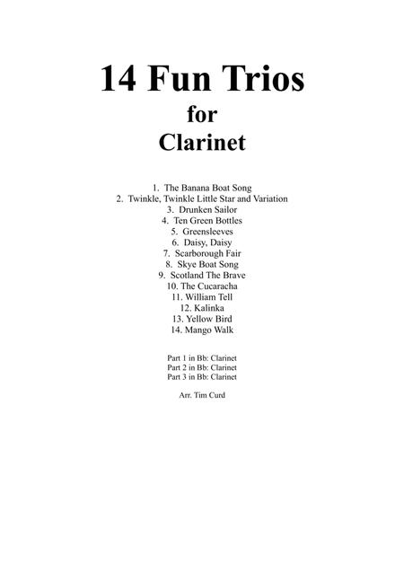 14 Fun Trios For Clarinet