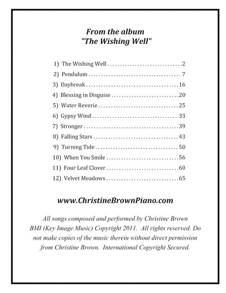 Preview Solo Piano - THE WISHING WELL Songbook - Christine Brown By