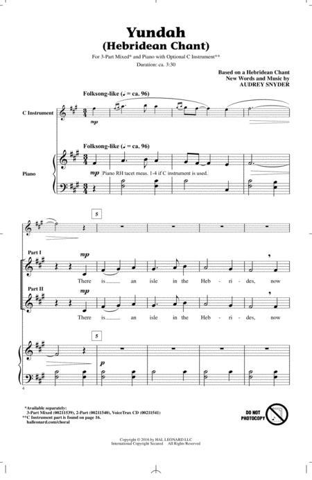 Yundah (Hebridean Chant)