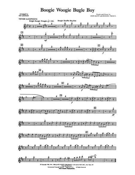 Boogie Woogie Bugle Boy - Tenor Sax 1