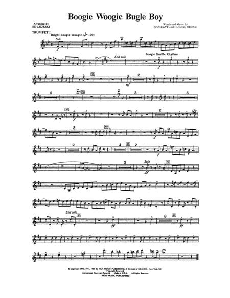 Boogie Woogie Bugle Boy - Bb Trumpet 1