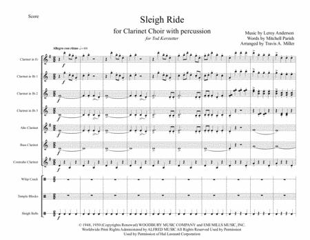 Sleigh Ride (for Clarinet Choir with percussion)