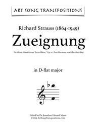 Zueignung, Op. 10 no. 1 (D-flat major)