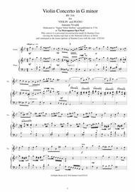 Vivaldi - Violin Concerto in G minor RV 316 Op.4 No.6 for Violin and Piano