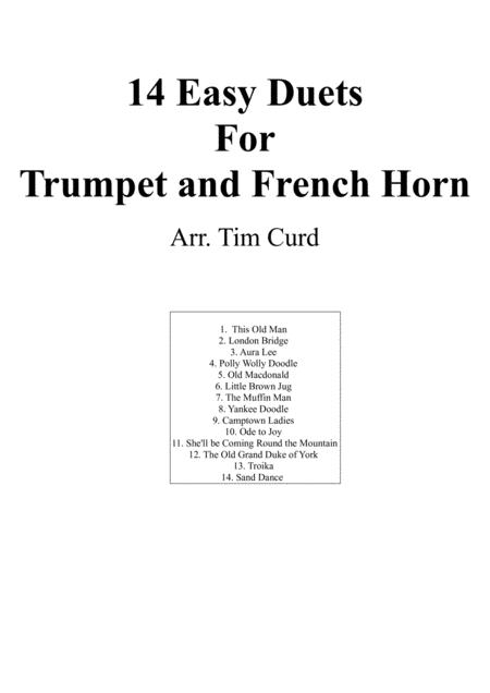 14 Easy Duets For Trumpet And French Horn