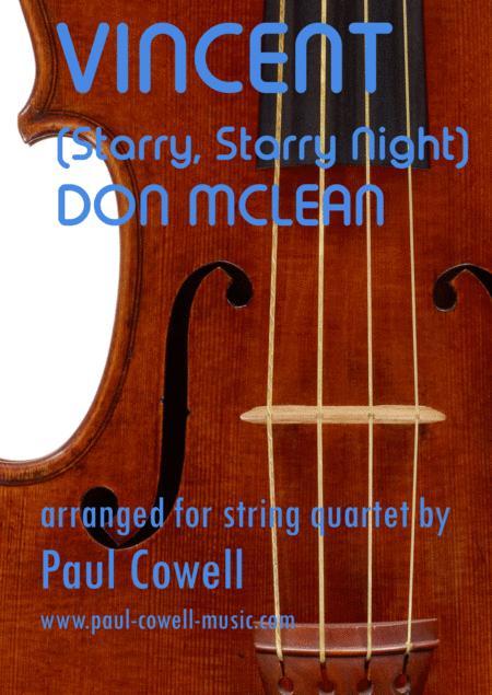 Vincent (Starry Starry Night) for string quartet