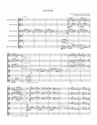 Let It Go (from Frozen) for Saxophone Quintet