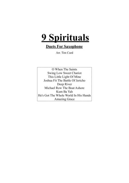 9 Spirituals, Duets For Saxophone