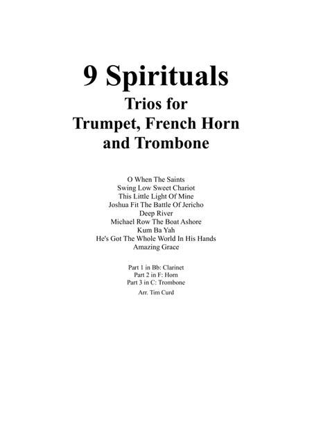 9 Spirituals, Trios For Trumpet, French Horn And Trombone