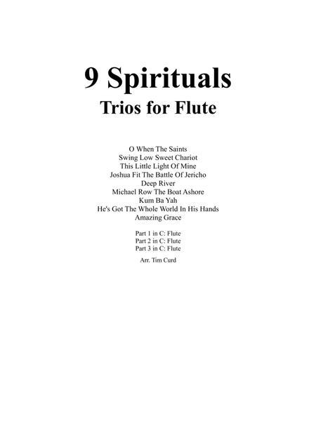 9 Spirituals, Trios For Flute