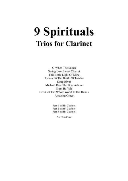 9 Spirituals, Trios For Clarinet