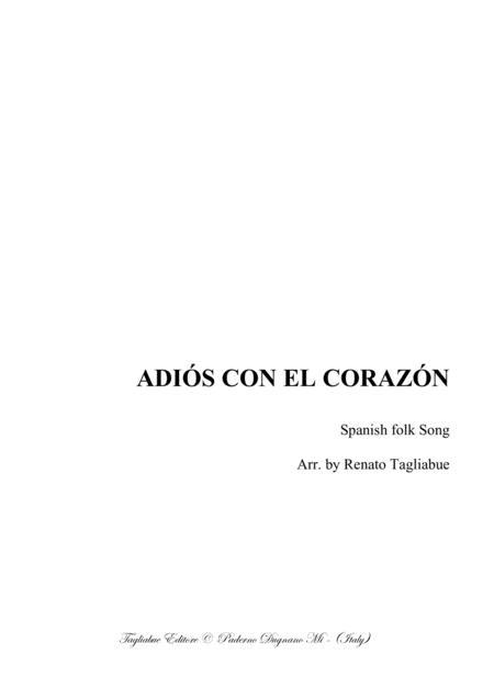 ADIÓS CON EL CORAZÓN - Spanish folk Song - Arr. for SABar Choir
