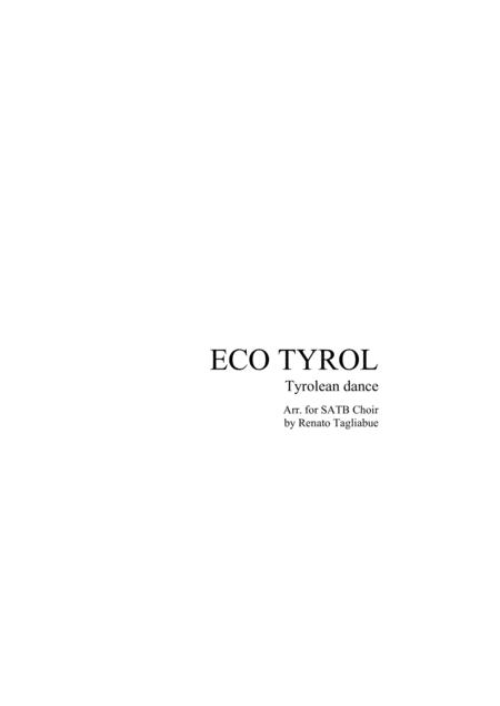 ECO TYROL - Tyrolean dance - for SATB Choir