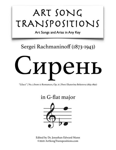 Lilacs, Op. 21 no. 5 (G-flat major)