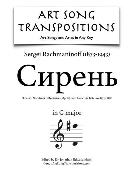 Lilacs, Op. 21 no. 5 (G major)