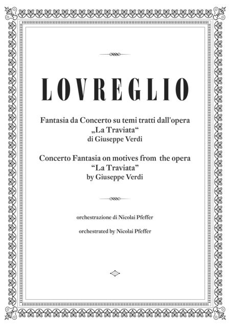 Verdi/Lovreglio: Concerto Fantasia on motives from the opera