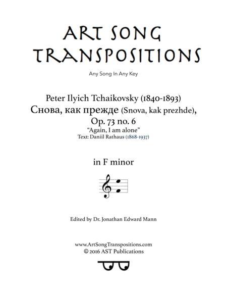 Again, I am alone, Op. 73 no. 6 (F minor)