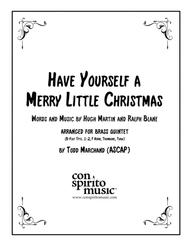 Have Yourself A Merry Little Christmas — brass quintet