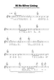 Download Hi Ho Silver Lining Sheet Music By Scott English - Sheet