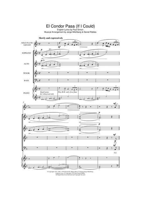 El Condor Pasa (If I Could) (arr. William Reed)
