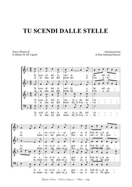 TU SCENDI DALLE STELLE - Arr. for SATB Choir