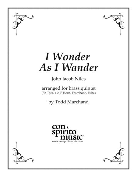 I Wonder As I Wander (Appalachian carol) — brass quintet