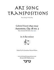 Automne, Op. 18 no. 3 (A-flat minor)