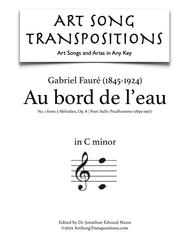 Au bord de l'eau, Op. 8 no. 1 (C minor)