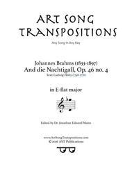 An die Nachtigall, Op. 46 no. 4 (E-flat major)