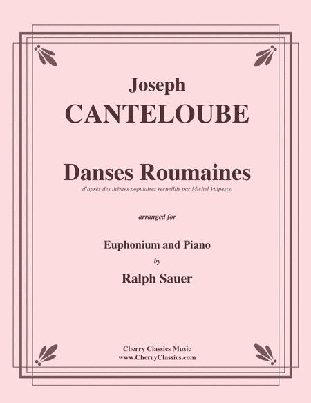 Danses Roumaines for Euphonium and Piano