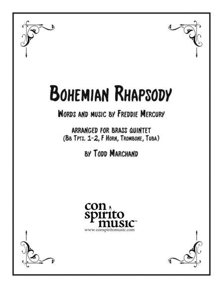 Bohemian Rhapsody arranged for brass quintet