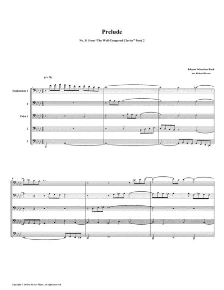 Prelude 11 from Well-Tempered Clavier, Book 2 (Euphonium-Tuba Quintet)