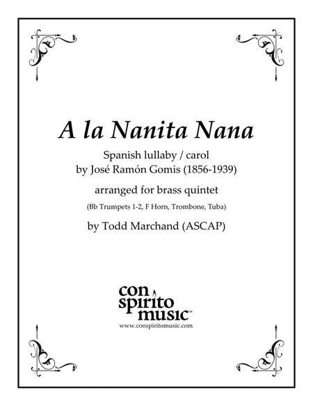 A la nanita nana (Spanish carol) — brass quintet