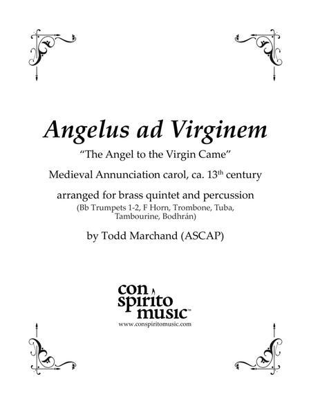 Angelus ad Virginem (Medieval Annunciation carol) — brass quintet