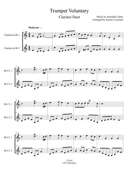 Trumpet Voluntary for Two Clarinets
