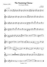 Download The Humming Chorus Sheet Music By Giacomo Puccini