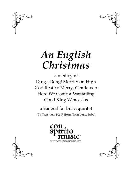An English Carol Medley — brass quintet