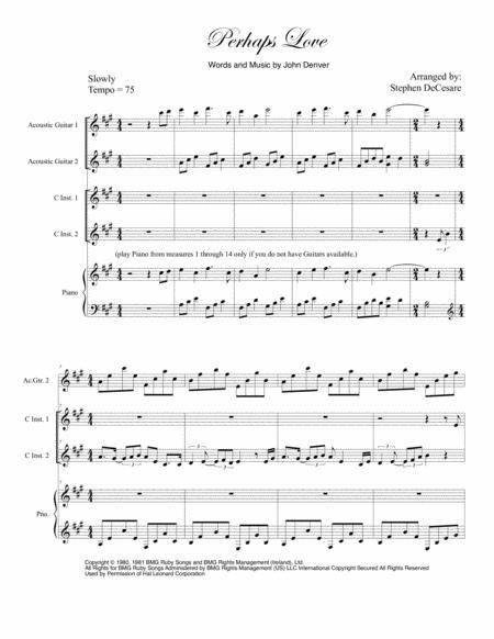 Perhaps Love (Duet for C-Instruments)