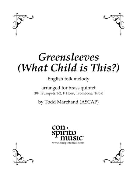 Greensleeves (What Child Is This?) — brass quintet