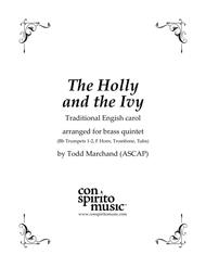 The Holly and the Ivy — brass quintet