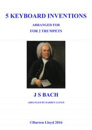 Trumpet duets. Five Bach keyboard Inventions for 2 Trumpets.