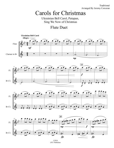 Carols for Christmas A Medley for Flute and Clarinet