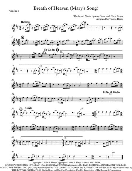 Breath Of Heaven (Mary's Song) - String Quartet