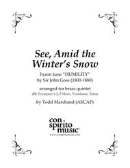 See, Amid the Winter's Snow — brass quintet